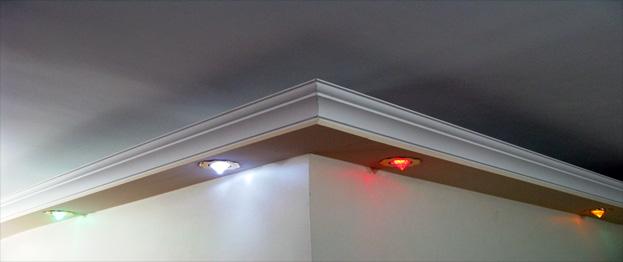 اجرای سقف فلت به همراه سیستم هالوژن